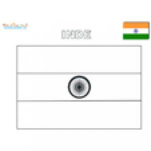 Coloriage du drapeau de l'Inde