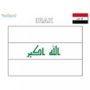 Coloriage du drapeau de l'Irak