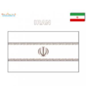 Coloriage du drapeau Iran