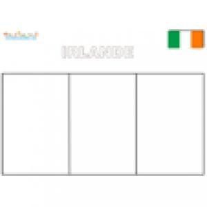 Coloriage du drapeau d'Irlande
