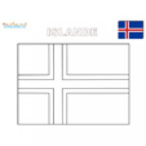 Coloriage du drapeau de l'Islande