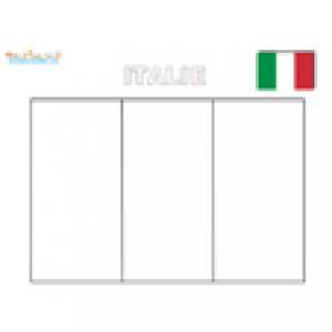 Coloriage du drapeau de l'Italie