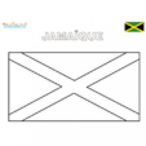 Coloriage du drapeau de la jamaïque