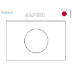 Coloriage du drapeau du japon