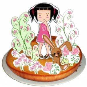 Décoration de gâteau jardin de fleurs : le jardin de mathilde