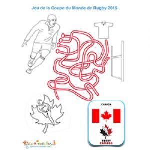 Jeu de fils avec l'équipe de rugby du Canada