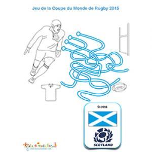 Jeu de fils mêlés pour jouer avec l'équipe de rugby écossaise
