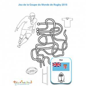 Jeu de fils équipe de rugby Fidji