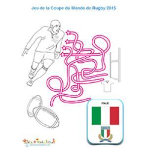 Jeu de fils avec l'équipe italienne de rugby