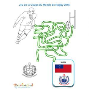 Jeu de fils avec le rugby Samoa