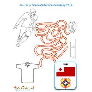 Fils mêlés avec l'équipe de rugby Tonga