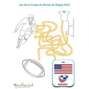 Fils mêlés avec l'équipe de rugby des USA