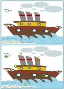 Solution du Jeu des erreurs: mer et bateau vapeur