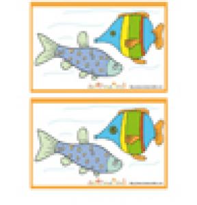 Jeu des 7 erreurs: Deux poissons dans l'eau