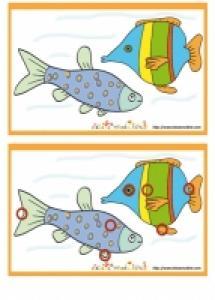Solution du Jeu des erreurs: deux poissons dans l'eau
