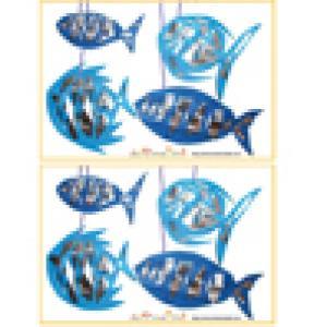Jeu des 7 erreurs: mobile de poissons papier