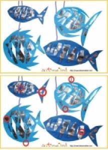 Solution du Jeu des erreurs: mobile de poissons papier