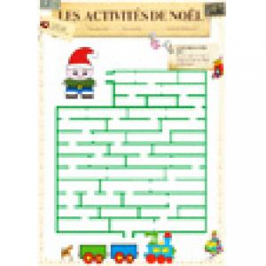 Labyrinthe du petit train de Noël