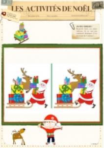 Jeu des 7 erreurs Père Noël au traineau