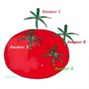 """Jeu """"Épingler la queue de la tomate"""""""