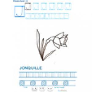Imprimer la fiche graphisme sur J de JONQUILLE