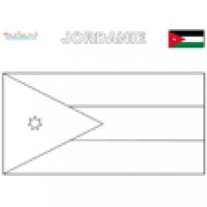Coloriage du drapeau de la Jordanie
