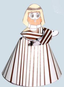 Joseph paper toy pour la crèche de Noël