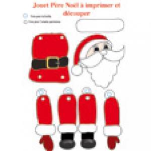 Jouet Père Noël articulé à imprimer