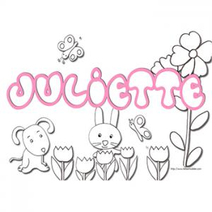 coloriage prénom Juliette
