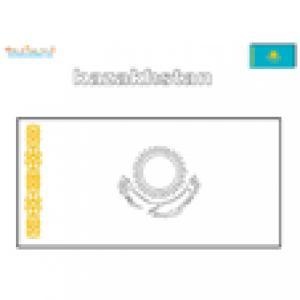 Coloriage du drapeau du Kazakhstan