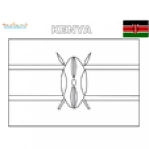 Coloriage du drapeau du Kenya