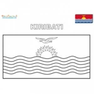 Coloriage du drapeau des Kiribati