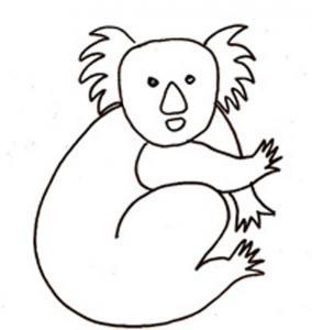 Dessin de koala 2 à colorier