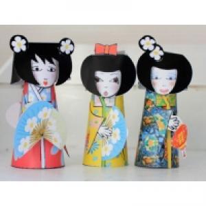 Kokeshi paper toy kokeshi