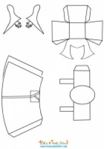 Kokeshi paper toy à colorier