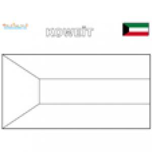 Coloriage du drapeau du Koweit