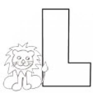 Colorie le L de l'alphabet comme LION