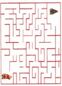 Imprimer le jeu du labyrinthe Pere Noel  et son sapin