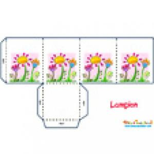 Lampion jardin fleuri