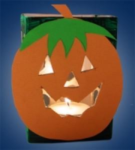Lampion citrouille pour la fête d'Halloween