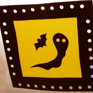 Fabriquer des décors fenêtre halloween en piquage