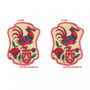 Lanterne chinoise coq a imprimer
