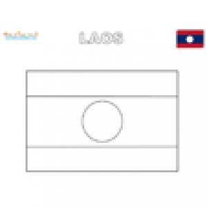 Coloriage du drapeau du Laos