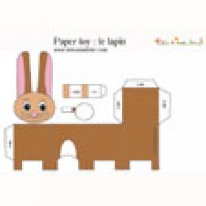 Paper toy lapin à imprimer pour faire un jouet en papier