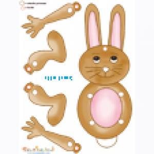 Modele de lapin anime a decouper