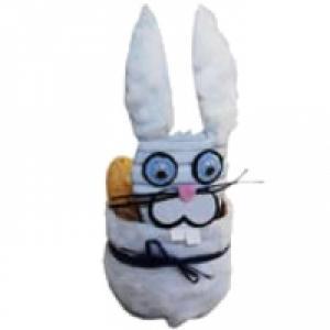 Panier lapin de Pâques bouteille