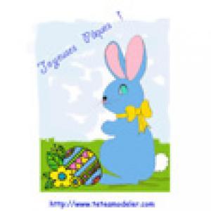 Image Pâques à imprimer : lapin de Pâques 8