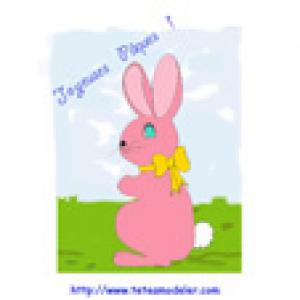 Image Paques a imprimer : lapin de Pâques 9