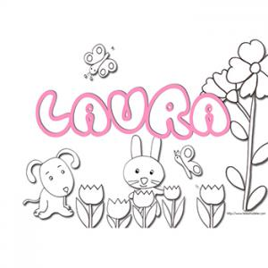 coloriage prénom Laura