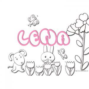 coloriage prénom Lena